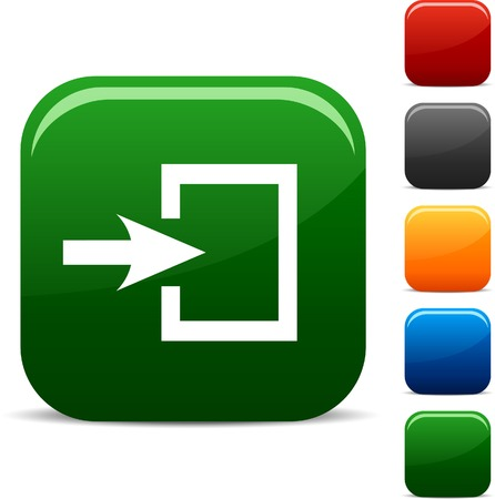 Ingang icon set. Vector illustratie.  Vector Illustratie