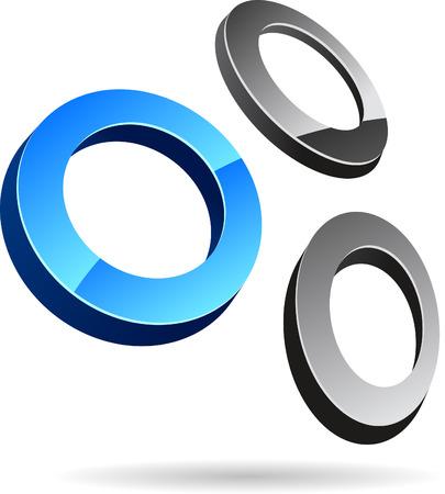 Glossy abstract symbol. Vector illustration. Stock Vector - 5765280