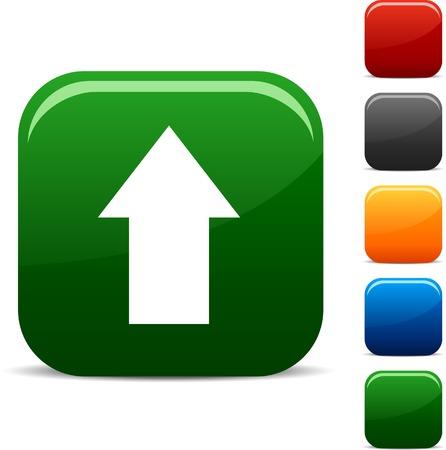boton flecha: Conjunto de iconos Cargar. Ilustraci�n del vector.