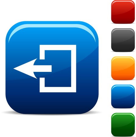 exit icon: Exit icon set. Vector illustration.  Illustration