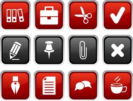 Office icon set. Vector illustration.  Vector