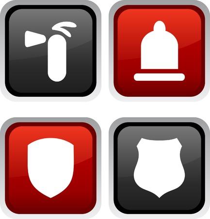 safety icon: Safety icon set. Vector illustration. Illustration