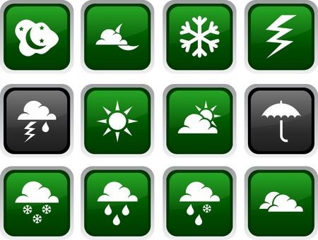 Weather icon set. Vector illustration.  Vector