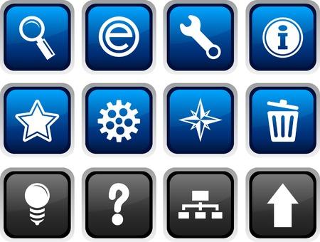 web icon set. Vector illustration. Stock Vector - 5772176