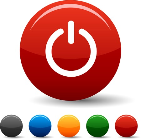 power button: Switch icon set. Vector illustration.
