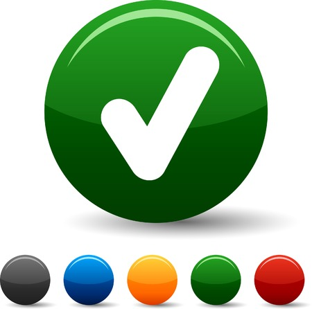 yes button: Check icon set. Vector illustration.