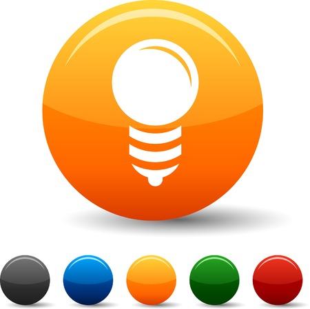 gray bulb: Bulb icon set. Vector illustration.