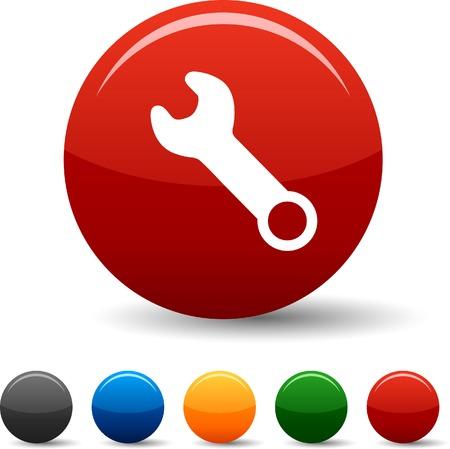 settings: Tools icon set. Vector illustratie.