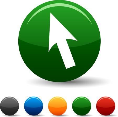Cursor icon set. Vector illustration.  Stock Vector - 5790463