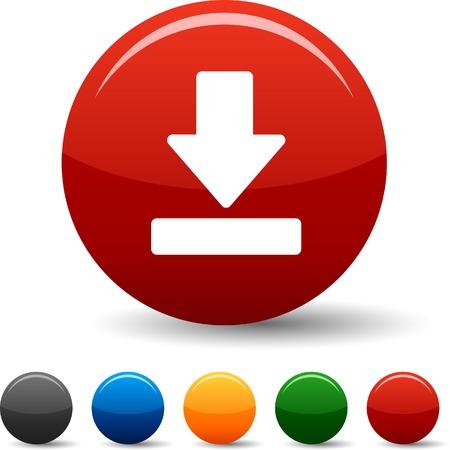 Download icon set. Vector illustration.  Vector