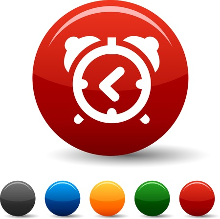 alarmclock:  alarm-clock icon set. Vector illustration.  Illustration