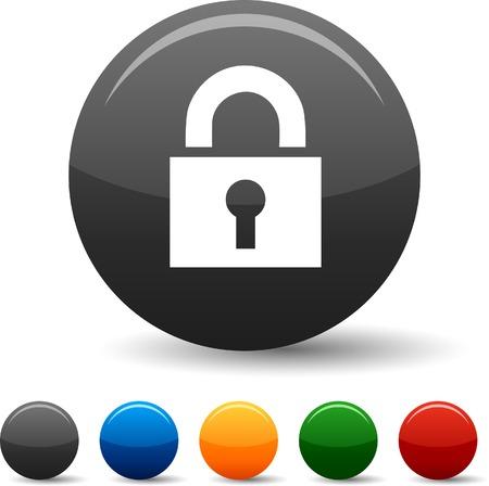 icono candado: Icono de candado establecido. Ilustraci�n del vector. Vectores