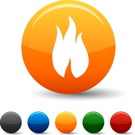 Fire  icon set. Vector illustration.  Ilustrace