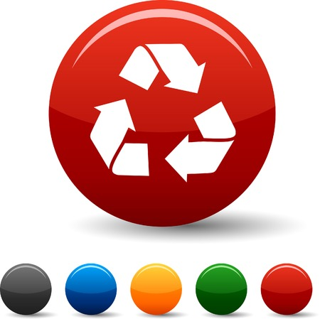Recycle  icon set. Vector illustration.  Stock Vector - 5797190
