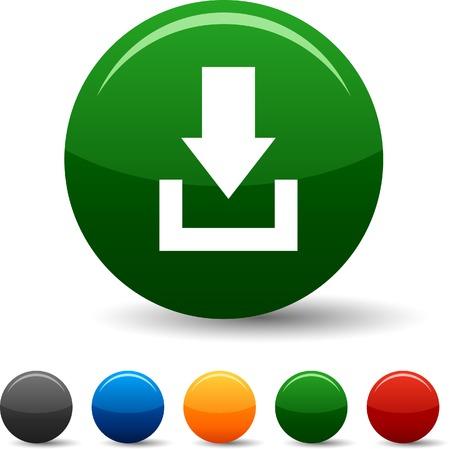 Downloaden icon set. Vector illustratie.