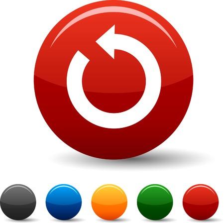 Refresh icon set. Vector illustration.