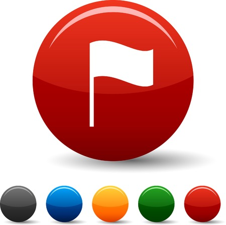 Flag icon set. Vector illustration.