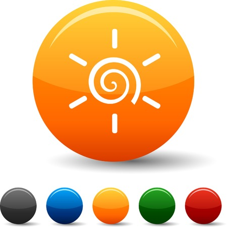 Sun icon set. Vector illustration.  Vector