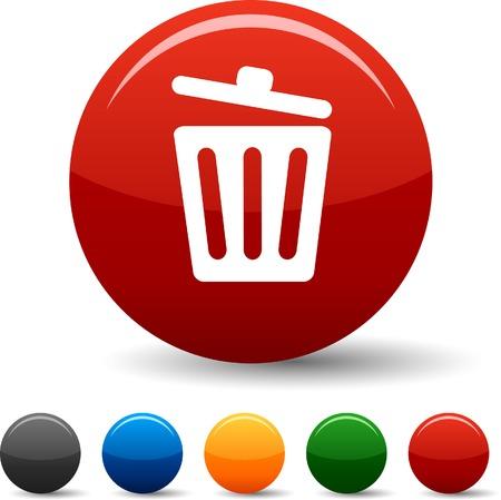 Recycle bin.  icon set. Vector illustration. Stock Vector - 5804374