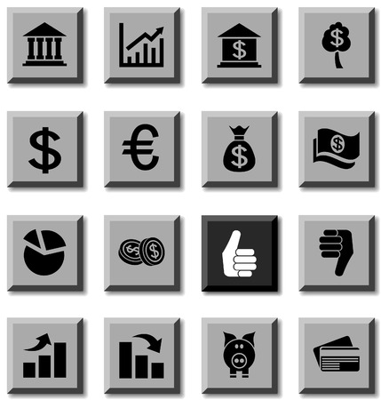 Money icon set. Vector illustration. Vector