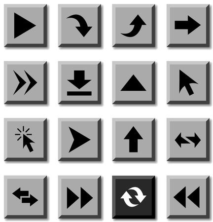 Arrows icon set. Vector illustration. Vector