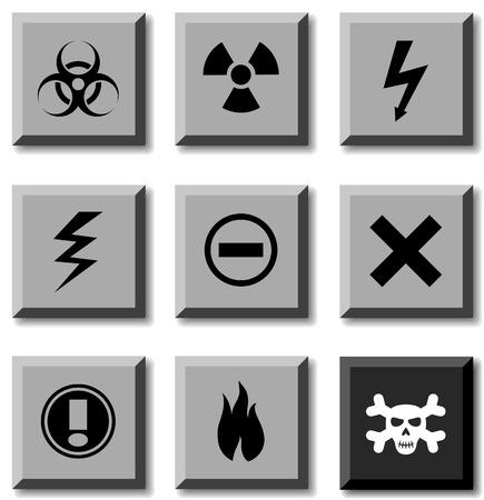 Warning icon set. Vector illustration. Stock Vector - 5814864