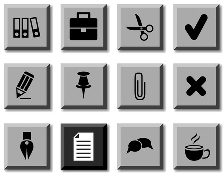 Office icon set. Vector illustration. Stock Vector - 5814851
