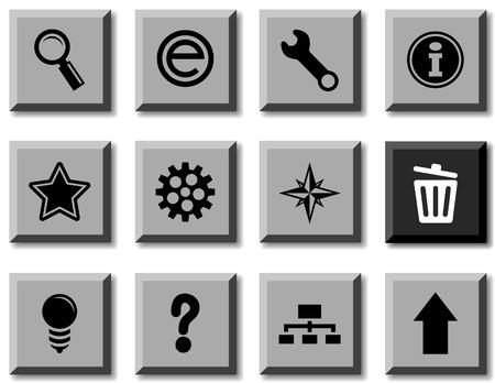 web icon set. Vector illustration.  Stock Vector - 5814848