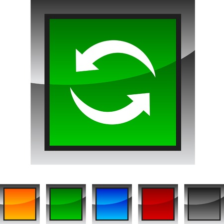 Refresh icon set. Vector illustration. Stock Vector - 5822969