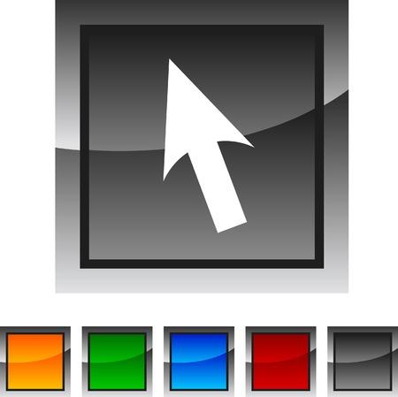 Cursor icon set. Vector illustration. Stock Vector - 5822955