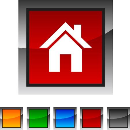 icono inicio: Icono Inicio establecidos. Ilustraci�n del vector.