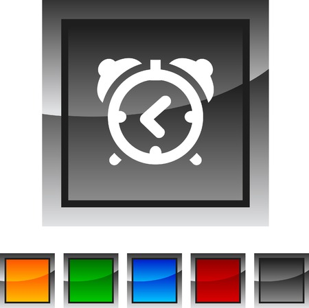 reminding: alarm-clock icon set. Vector illustration.  Illustration