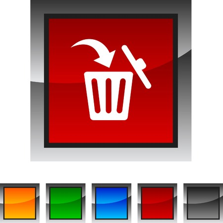 Delete icon set. Vector illustration.  Vector