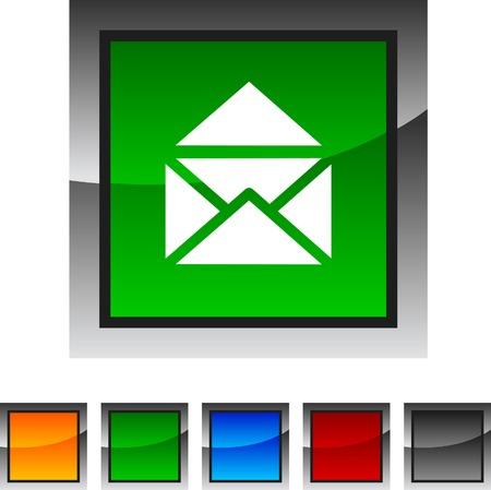 e-mail icon set. Vector illustration.  Vector