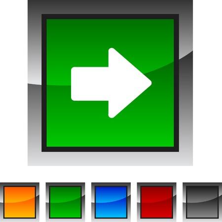 Arrow icon set. Vector illustration.  Stock Vector - 5836094