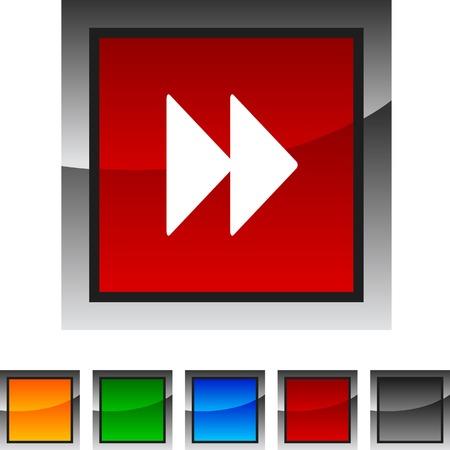 forward icon: Forward icon set. Vector illustration.  Illustration