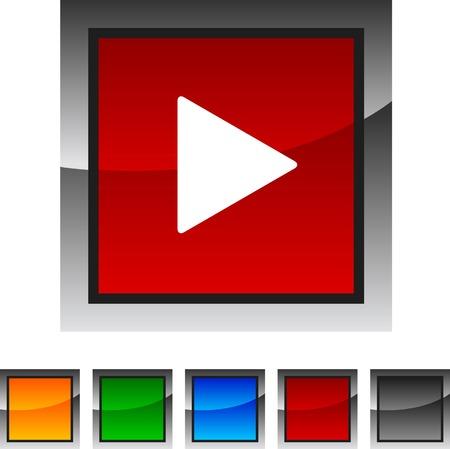 Play icon set. Vector illustration. Stock Vector - 5842866