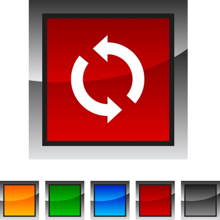 Refresh icon set. Vector illustration.  Vector