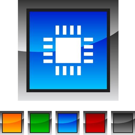 Cpu icon set. Vector illustration. Stock Vector - 5842897