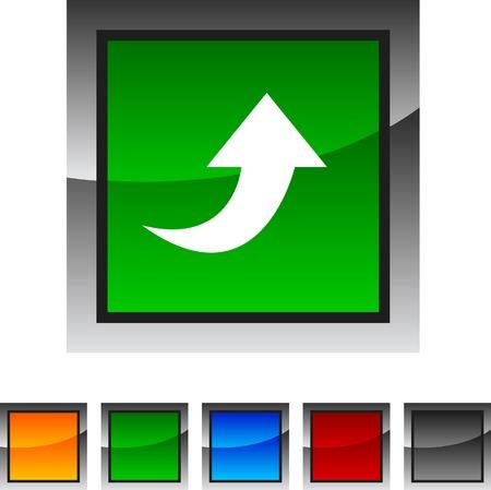 Upload icon set. Vector illustration. Stock Vector - 5842872