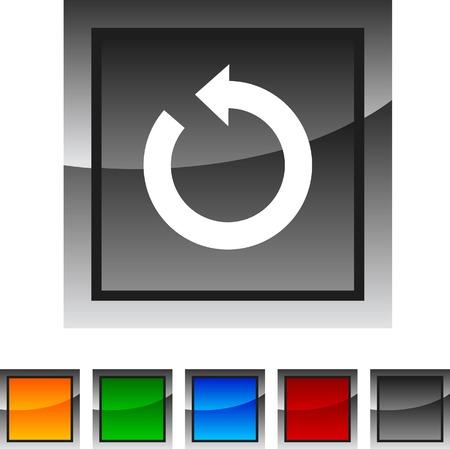 Refresh icon set. Vector illustration. Stock Vector - 5842873