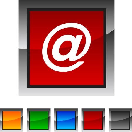 arroba: Arroba  icon set. Vector illustration.