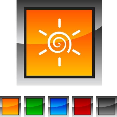 Sun  icon set. Vector illustration.  Vector