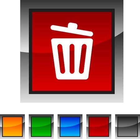 delete: Recycle bin. icon set. Vector illustration.  Illustration