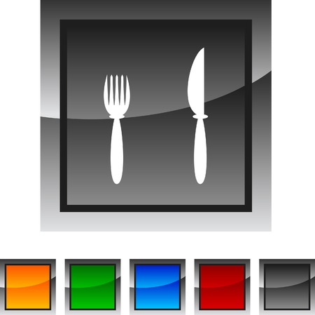 Dinner icon set. Vector illustration. Stock Vector - 5849124