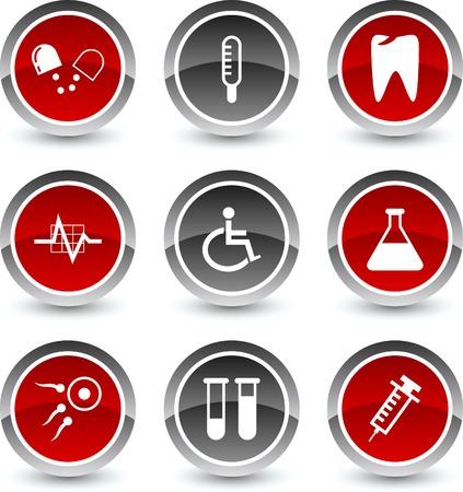 Medical icon set. Vector illustration.  Vector