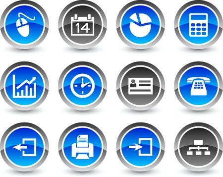 communication icons: Office icon set. Vector illustration.
