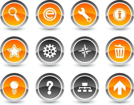 web icon set. Vector illustration. Stock Vector - 5869116