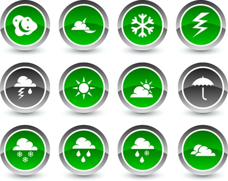 Weather icon set. Vector illustration.  Stock Vector - 5869123
