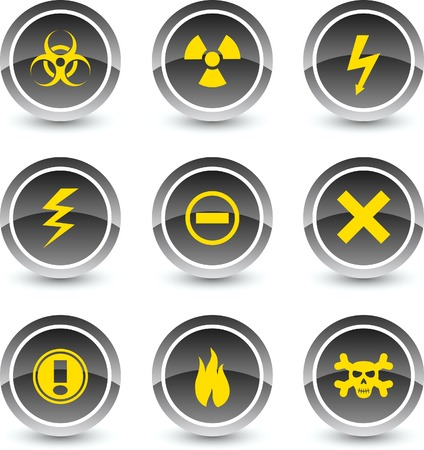 Warning icon set. Vector illustration. Stock Vector - 5869118